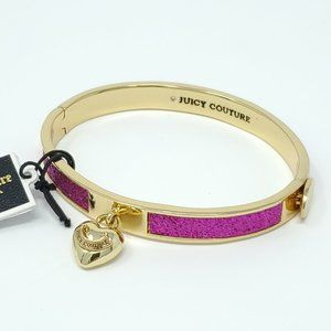 Juicy Couture Black Label Glitter Hinged Bangle